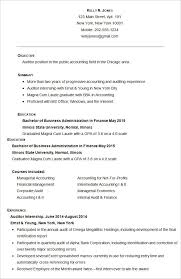 Accounting Resume Format Free Download Best of Accounting Resume Template 24 Free Samples Examples Format