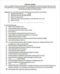 Different Birth Plan Options Sample Birth Plan 11 Examples In Word Pdf