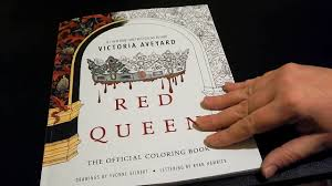 flip through red queen the official coloring book