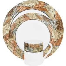 Camouflage Dishes Corelle Impressions Woodland Leaves 16 Piece Dinnerware Set