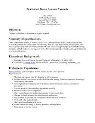 Template Rn Resume Skills Sample Resumes New Graduate Nurse Nursing