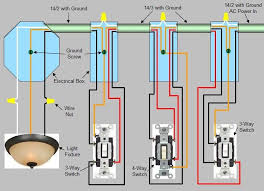 4 way switch wiring diagram power enters at 3 way switch box