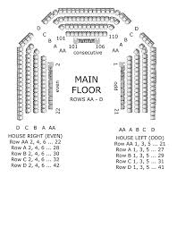 Seating Charts College Of The Arts Csuf