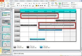 Powerpoint Calendar Template Beauteous How To Make A Calendar In PowerPoint 48 Using Shapes And Tables