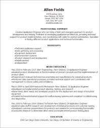 Resume Templates For Engineers Inspiration R And D Test Engineer Sample Resume 48 Test Engineer Resume Samples