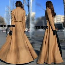 floor length winter coat autumn and new arrival women zippers patchwork vintage wool thick long parka mens full coats uk