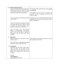 Detailed Lesson Plan: Subject-Verb Agreement