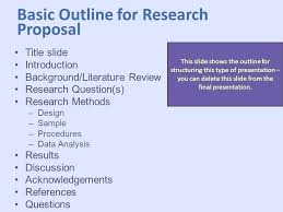 Research Presentation Outline Research Presentation Template This ...