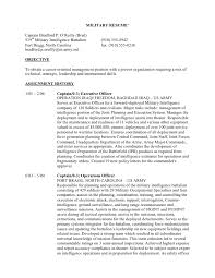 Sample Resumes For Military Infantry Job And Resume Template