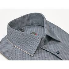 Chequered Pattern Gorgeous Eterna Shirt 48 Navy Chequered Pattern Slim Fit Square Mile