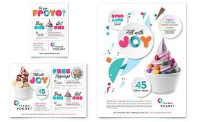 print ad templates frozen yogurt shop flyer and ad template design by stocklayouts