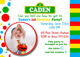 Birthday Invitation Sesame Street Theme