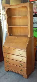 sold 5132 ethan allen baumritter vermont maple secretary with hutch 125