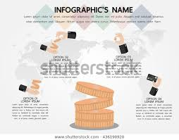 Financial Infographic Template Eps10 Vector Illustration