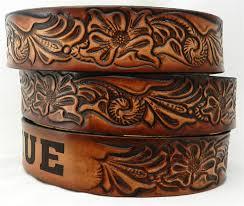 name belt western scroll 927