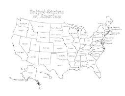Map Of Usa Coloring Page Blank Map Of New Coloring Map Coloring Page