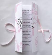 Wedding Invitation Folding New Zealand Wedding Invitation With Folding Cover Tied With Ribbon