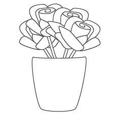 Small Picture Flower Vase Coloring Pages Coloring Pages