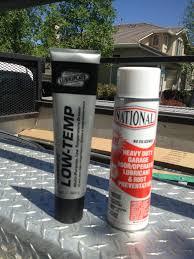 garage door rail grease