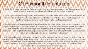 collection exploration and settlement coming to america ppt  of plymouth plantation