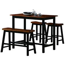 Image Ideas Crown Mark Tyler 4piece Counter Height Table Set Amazoncom High Dining Table Set Amazoncom
