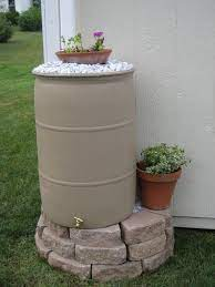 rain barrel backyard landscaping