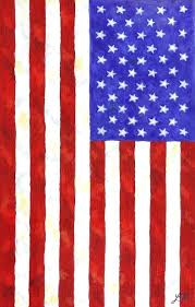 flag painting vertical by american painted on wood slats