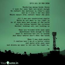 All I See Is Green Lights Its All In The Eyes Wan Quotes Writings By Manish