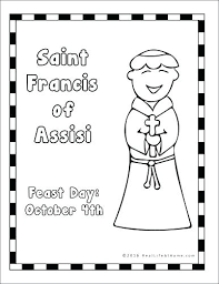 St Francis Of Assisi Coloring Pages Click To See Printable Version