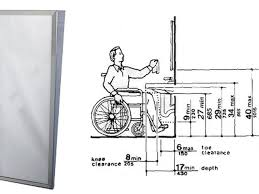 Ada Bathroom Guidelines Gorgeous Ada Bathroom Mirror Mirrors In Miami Requirements Height