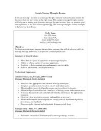 Cover Letter For Massage Therapist Position Massage Therapist Resume