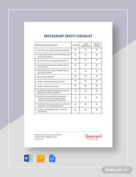 Free 18 Safety Checklist Examples Samples In Pdf Word