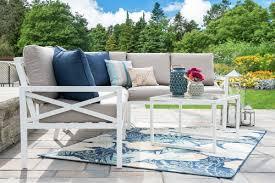 White outdoor furniture Green Blakely White Sectionalleisure Madepatio Furnituretan1jpg Dubquarterscom Shop Leisure Made