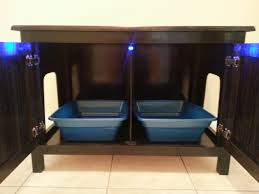 hidden cat box furniture. Odor Free Double Cat Litter Box Cabinet. Ideal For Multiple Cats. Holds Two Hidden Furniture O