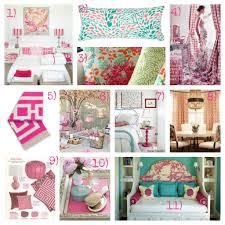 Bedroom Mood Board Boldly Colorful Feminine Pink And Aqua Bedroom Ideas