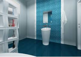 blue bathroom tile ideas:  bathroom with blue tile alice  amazing modular shelf room divider on luxury dark