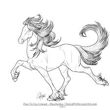 Free Lineart Iceland Pony By Darya87 On Deviantart Horse Love