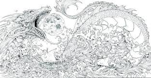 Free Printable Coloring Pages Baby Dragon Cool For Adults Scary Fire