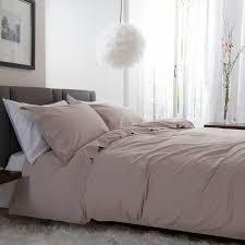 the white room dusky pink victorian lace slub cotton double duvet set