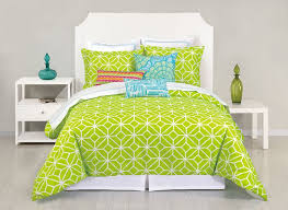 trina turk trellis lime green duvet cover pillow sham set