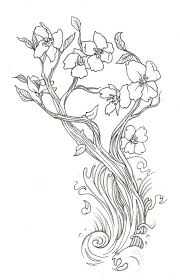 Small Picture Lovely Cherry Blossom Flower Doodler Art Coloring Page Free