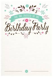 Birthday Invatations Flat Floral Free Printable Birthday Invitation Template
