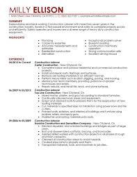 Laborer Job Description For Resume Folo Us