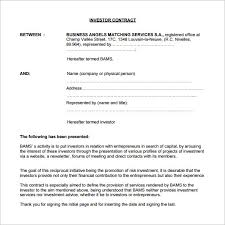 Agreement Form Doc Interesting 48 Investment Contract Templates PDF DOC Free Premium Templates