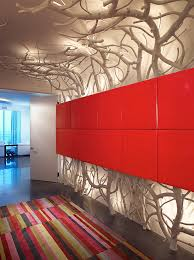 diy sculpture ideas hall contemporary with white white red panel wall