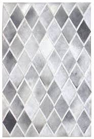 diamond grey white modern leather area rug jpg