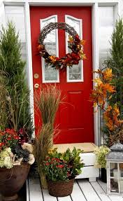 fall front door decorations73 best Front DoorPorch Fall Decor images on Pinterest  Fall