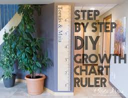 I Love Doing All Things Crafty Diy Growth Chart Ruler