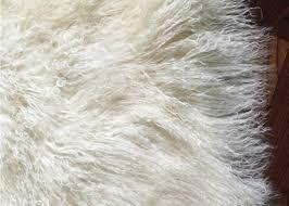 real mongolian tibet lamb fur pastel pink rug plate throw new genuine pink wool