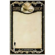 Wipe Clean Memo Board Best Wall Mounted Coffee Shop Glass Wipe Clean Memo Board Black Cream